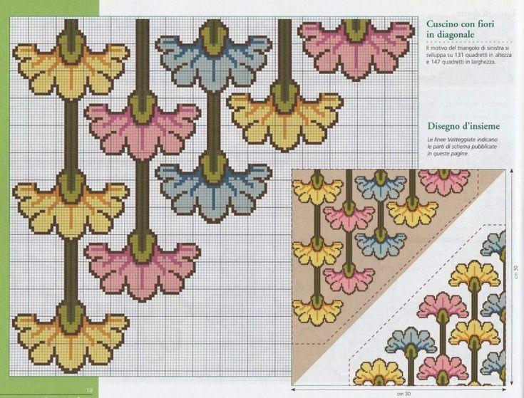 Подушка с цветочным орнаментом   Жозефина