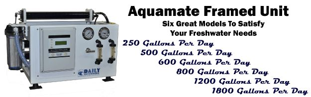Our old Aquamate series Watermaker