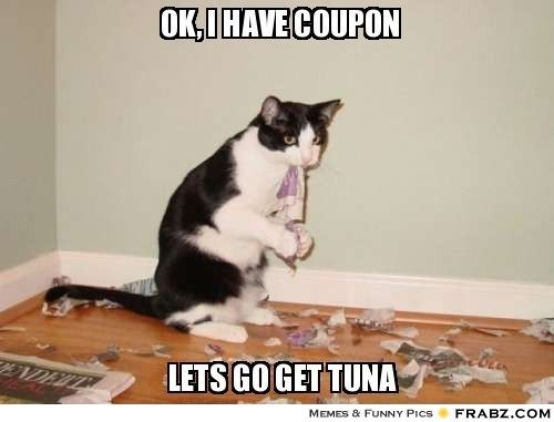 eea63387f1eacd0d544df420b37b5ded funny cat captions good news 65 best couponing quotes & memes images on pinterest financial,Couponing Meme