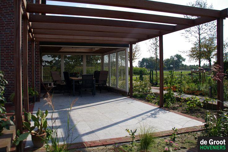 Overkapping gecombineerd met pergola overkapping veranda pinterest pergolas - Aluminium pergola met schuifdeksel ...