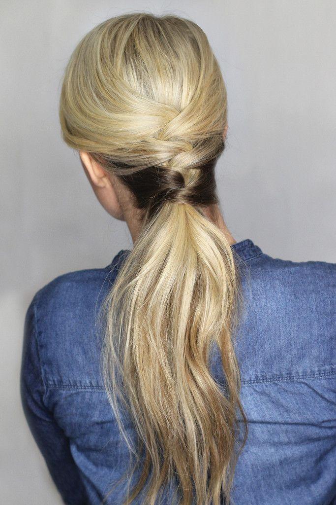 Best DIY Hairstyles Images On Pinterest Diy Hair Haircuts - Diy ponytail wrap