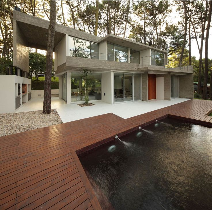 Nice Outdoor Pool, Terrace, Modern Concrete House In Cariló, Argentina