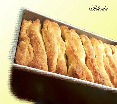 "Молочный хлеб ""Аккордеон"""