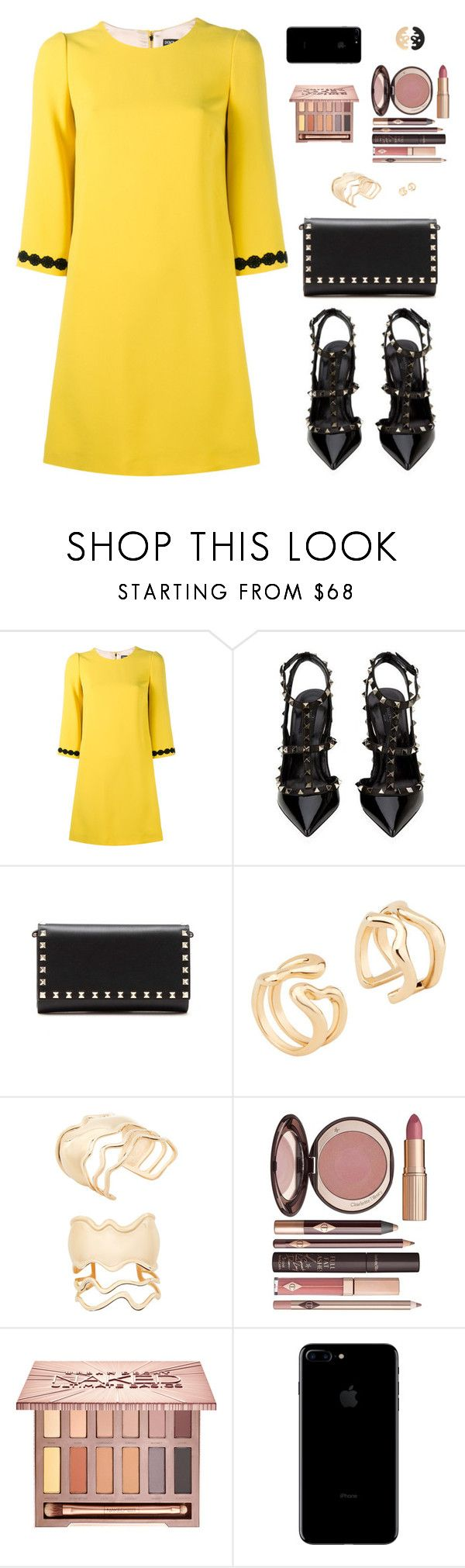 """Sin título #4581"" by mdmsb ❤ liked on Polyvore featuring Dolce&Gabbana, Valentino, Charlotte Tilbury, Urban Decay, dolceandgabbana and valentino"