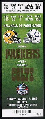 Football Ticket 2016 Pro Football Hall of Fame Game Green Bay Packers Cancelled