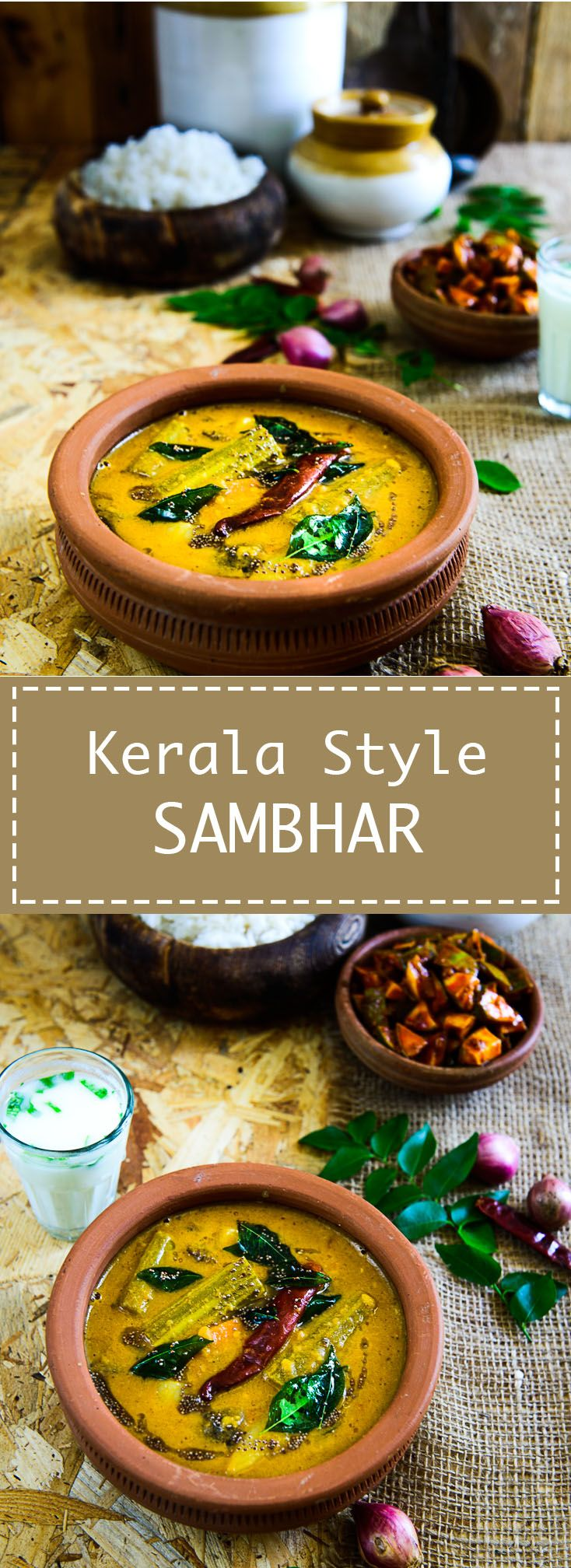 Kerala style sambhar Full of flavours from coconut and freshly ground spices, this Kerala style Sambhar is a must for Onam sadya. Food photography and styling by Neha Mathur.