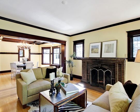 17 best images about livingroom on pinterest wood trim for Wall colors with dark wood trim