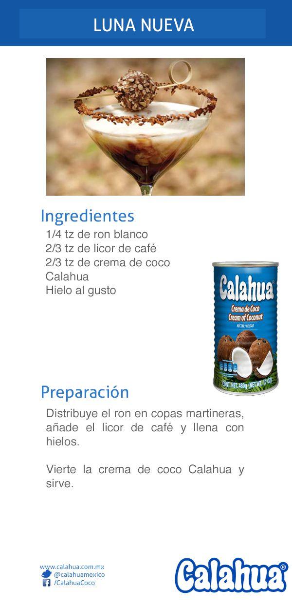 No se trata de otra de vampiros, sino de un delicioso y original coctel hecho con Crema de coco Calahua y licor de café: Luna Nueva.