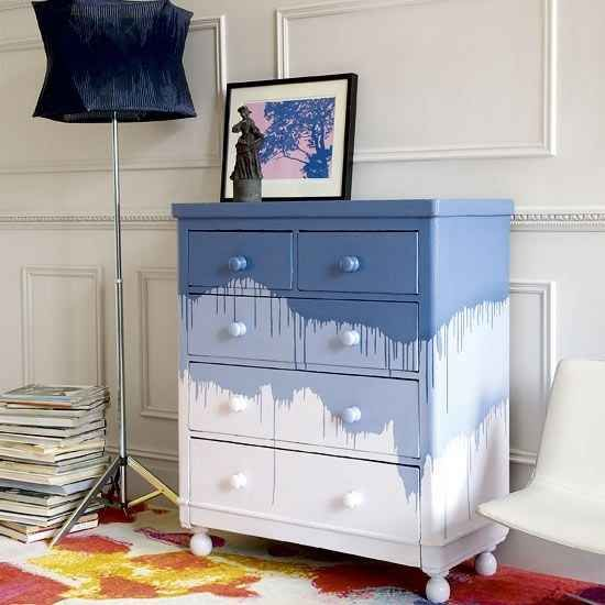 Let the paint drip | 99 Clever Ways To Transform A Boring Dresser