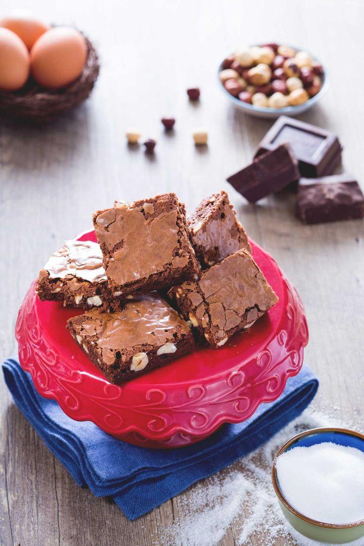 Una golosità irresistibile! #Brownies al #cioccolato fondente! #Giallozafferano #dolci #videoricetta #recipe