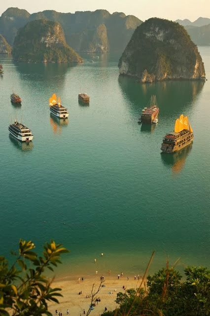 Ha Long Bay, Vietnam  stunning landscape ,but extremely unfriendly and nasty people (locals) they hate us foreigners...