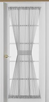 Sheer Voile 72 Inch French Door Curtain Panel White By