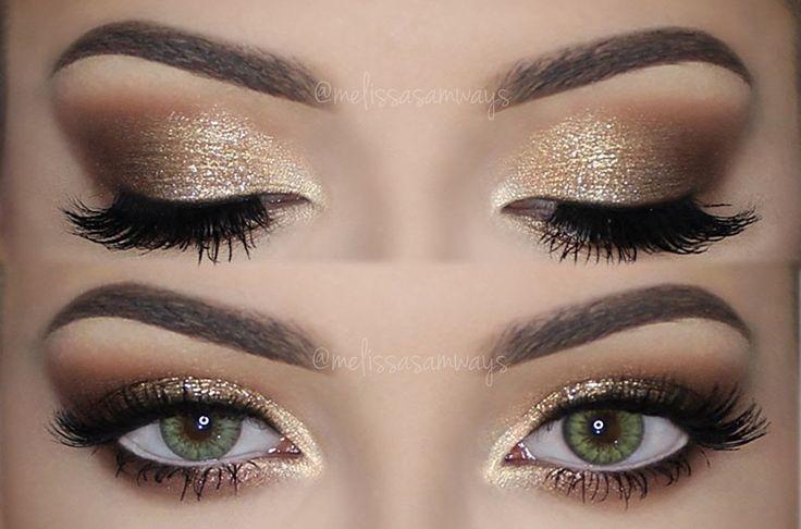 ♡ Soft Smokey Eyes & Gold Glitter | Make Up Tutorial ♡ ,  Ska Ward