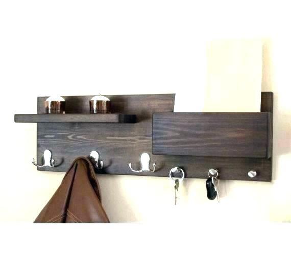 Diy Key Holder With Shelf Key Holder Diy Wall Mounted Key