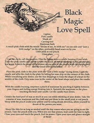 Black Magic Love Spell Book Of Shadows Pages Bos Wiccan