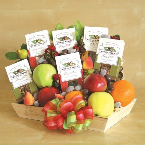 Save $12.49 on Healthy, Smoked and Sweet Gourmet Nuts and Fruits Gift Basket | Christmas Fruit Gift Basket; only $74.95