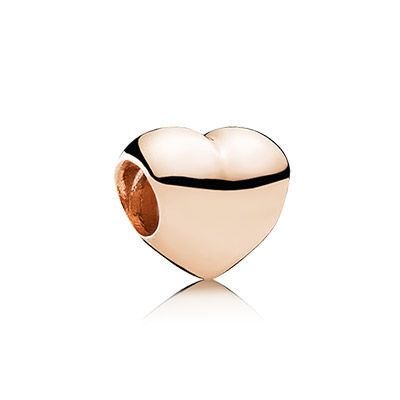 Love the rose gold so much more than the silver. PANDORA | Big smooth heart- Rose Gold