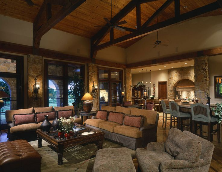 454 best images about lodge style great rooms on pinterest montana stone fireplaces and log homes for Lodge style living room furniture