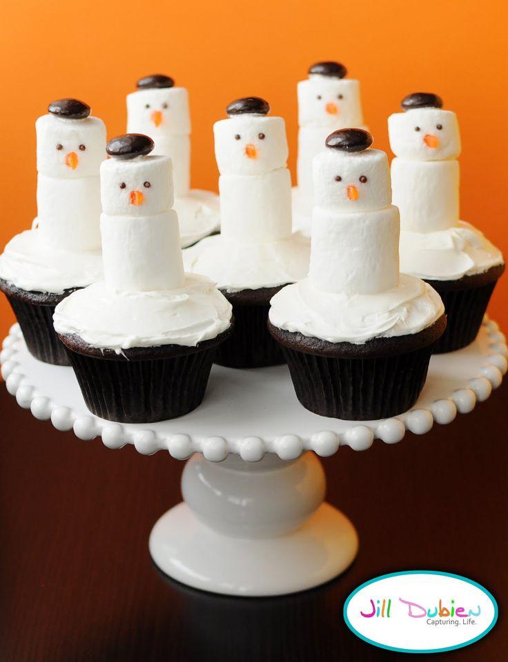 snowman cupcakes | Meet the Dubiens