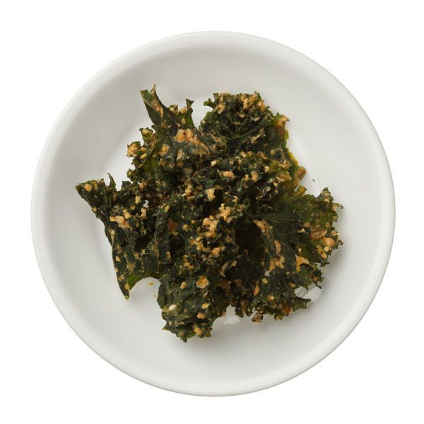 Vegetarian Snack Recipe: Baked Kale Chips.   This one of two ways I like kale.  The other is cooked in food.  I can't stomach raw kale.