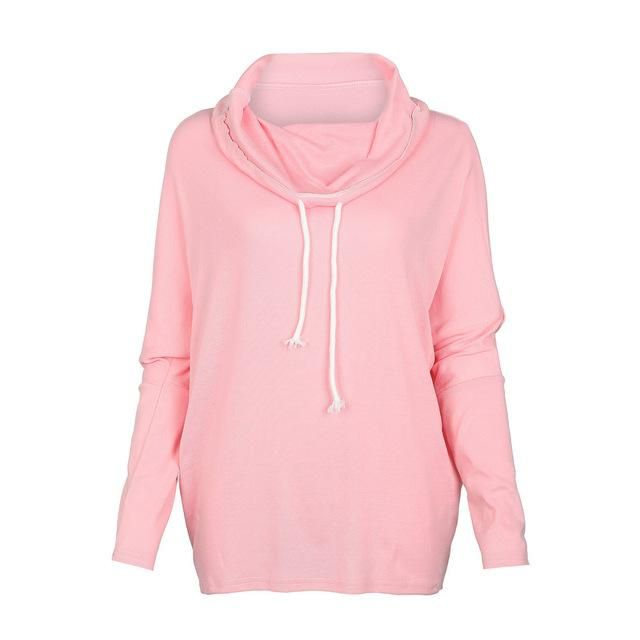 Long Batwing Pull-over, Pink, Gray, Green Or Black, S - XL