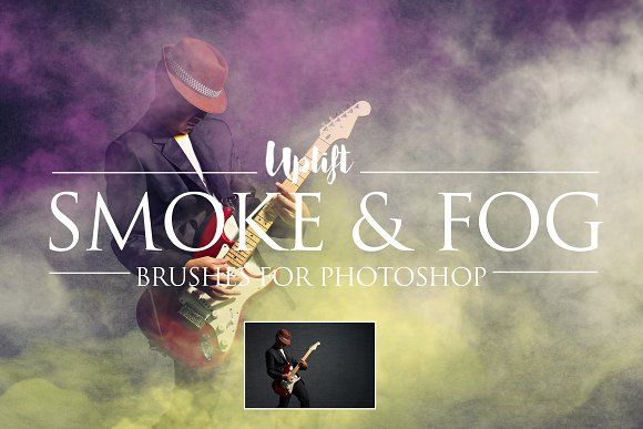 Smoke & Fog Brushes for Photoshop by Uplift Actions on @creativemarket