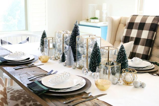 Top 25 Wonderful Christmas Dining Table Decoration Ideas Home Diy Ideas Christmas Dining Table Christmas Dining Table Decor Dining Table Decor Modern