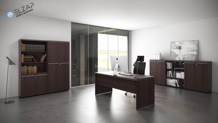 Elegancja w prostocie. Te słowa najlepiej charakteryzują ten system mebli gabinetowych z naszej oferty!  #elzap  #meble  #funiture  #design  #office