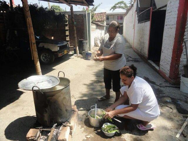 Preparando el sancocho - Jamundí, Valle del Cauca.