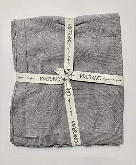 Amazon Com Viverano 100 Organic Cotton Knitted Baby Blanket Nursery Crib Bed Stroller Children S Babies Infants Lifestyle Fashion Clothing Knitt