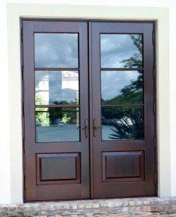 Glass panel double doors exterior outdoors pinterest for 6 panel glass exterior door