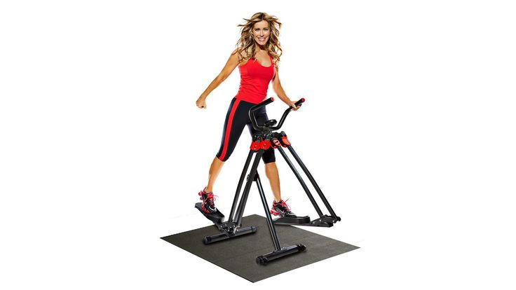 Brenda DyGraf X Slimstrider. Free-motion movement with ball and joint design; smooth, silent, no impact workout. 3 high-energy workouts on 1 DVD; large, anti-slip pedals put you in control. 4 function, personal training computer. Padded handlebars; premium equipment mat included to protect floors. Folds & rolls for easy storage; 300 lb. Weight Limit.