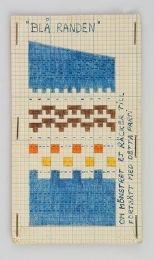 Blå randen / The Blue Edge Probeer een nieuwe browser met automatische vertaalfunctie.Google Chrome downloadenSluiten Translate 1947 launch of the pattern before Designer Mannheimer-Lunn, Anna-Lisa