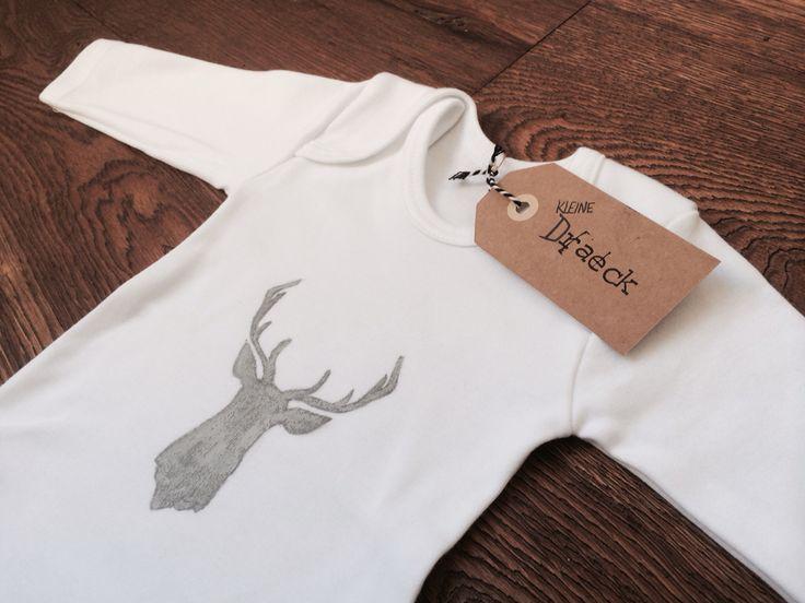 """Longsleeve Wit """"Big deer"""""""
