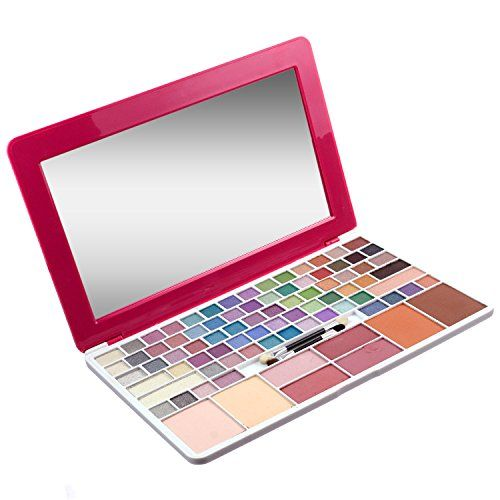 Laptop-Style Makeup Kit with 75 different eyeshadow colors, bronzers, face powders and more!  Best Gifts for #TeenGirls 2015 Make Up is a Cool Gift Idea