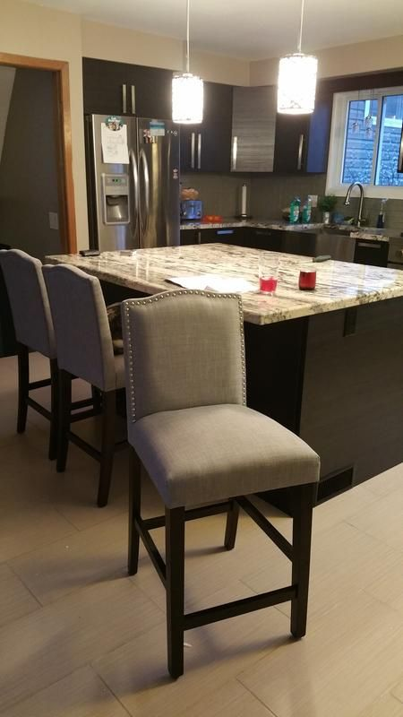 Counter Height Nailhead Chairs : Target Threshlold Counter height stool Camelot in Grey $95 Kitchen ...