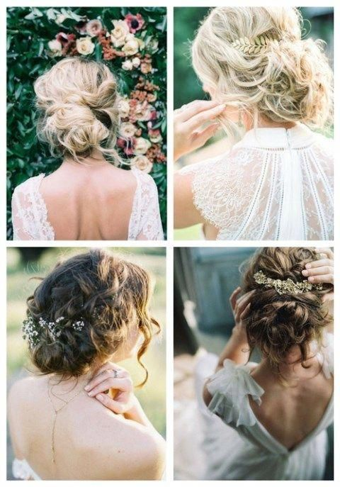 Elegant hairstyles curl-to-curl are amazing but messy chic is getting more and more popular. If you are a boho, beach, garden, woodland or just modern...
