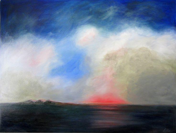 Sunset – oil on canvas