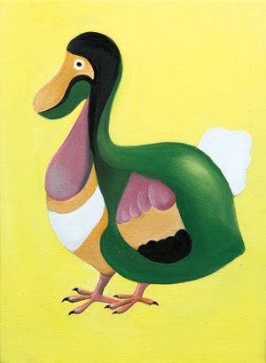 Dodo Bird form Alice's Adventures in Wonderland, oil on canvas, 33.4×24