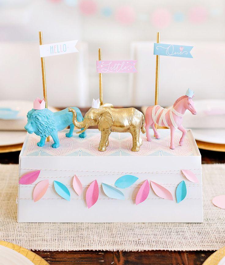 Royal Safari Baby Shower Theme + Free Printables {Pink & Blue}
