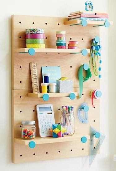 We've got you pegged as somebody who wants to customize your storage. Well, here's some good news. Our exclusive On the Pegboard Shelving System lets you design your wall storage any way you want it.