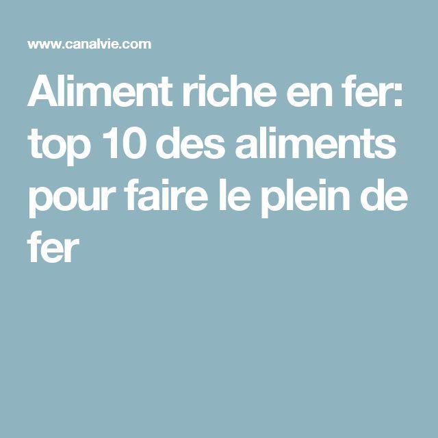 1000 id es sur le th me aliments riches en fer sur pinterest recettes riches en fer - Aliments les plus riches en fer ...