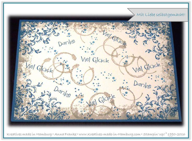 Abschiedskarte für einen lieben Kollegen - Farewell card for a colleague - Timeless Textures - Stampin' Up! - Kreatives made in Hamburg