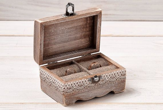 Wedding Ring Box Rustic Ring Bearer Box by InesesWeddingGallery