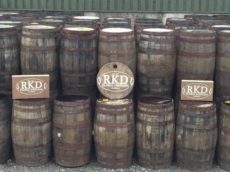 Whiskey Barrels Supplied By RKD Floral Displays