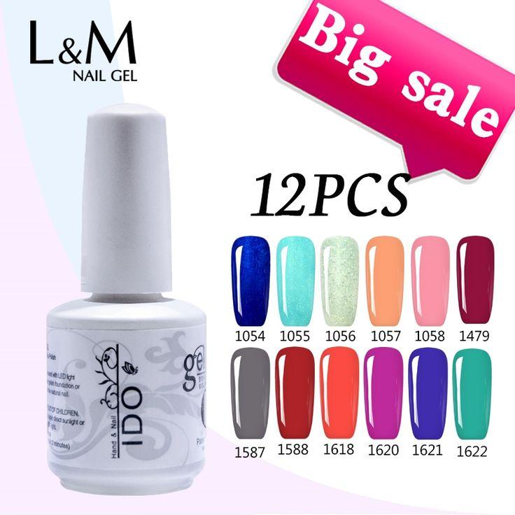 32.25$  Know more  - 2017 Real Beauty Uv Gel Nail Polish 12pcs Free Shipping Uv Varnishe Gel Set Of Nail Polish Brand IDO Kit (10colors+1top+1base)