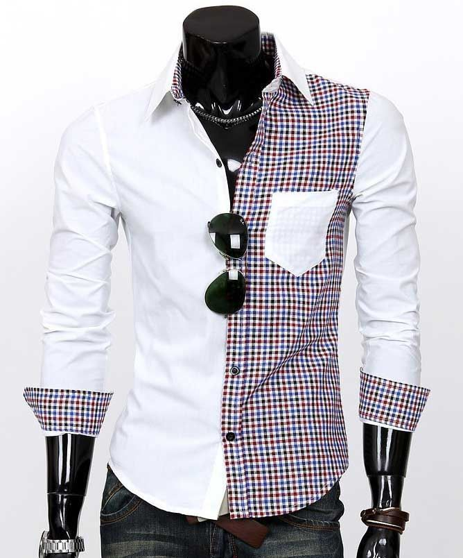 mens two toned shirt - Google Search