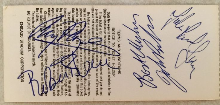 Led Zeppelin 1977 Ticket autographed by all 4 members