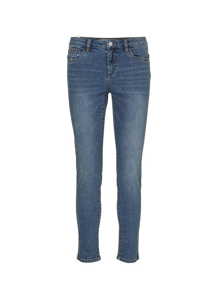 Billie Slim-leg Studded Jeans | Custommade.dk