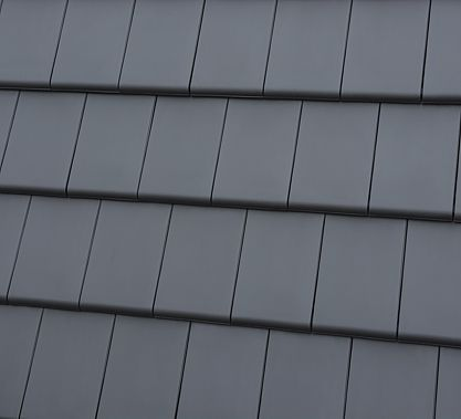 Bergamo dachówka ceramiczna płaska antracytowa angobowana - Stolmet Szczytno Hurtownia materiałów budowlanych, zakład produkcyjny